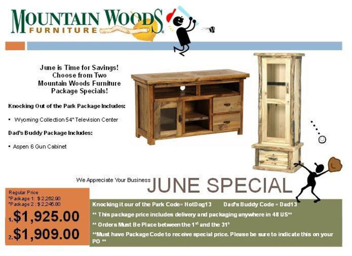 Log Furniture on Sale