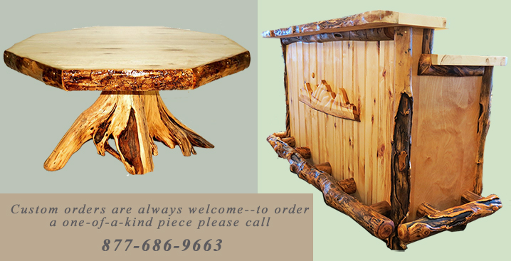 Online Sales of Rustic Aspen Log Furniture  Pine Log Furniture