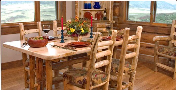 Online Sales of Rustic Aspen Log Furniture & Pine Log Furniture ...