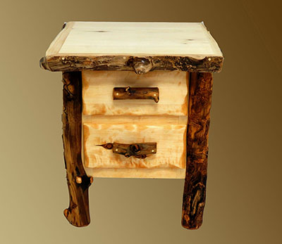 Handcrafted rustic aspen log furniture and pine log for Aspen logs for decoration