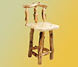 Aspen Grizzly Barstool with Back