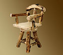 Aspen Grizzly Barstool w/ Back and Swivel