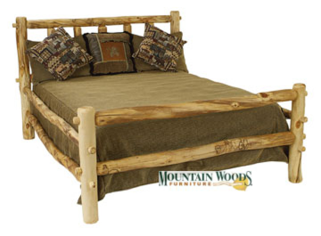 Handmade pine log beds and 28 images free rustic log for Free log bed plans