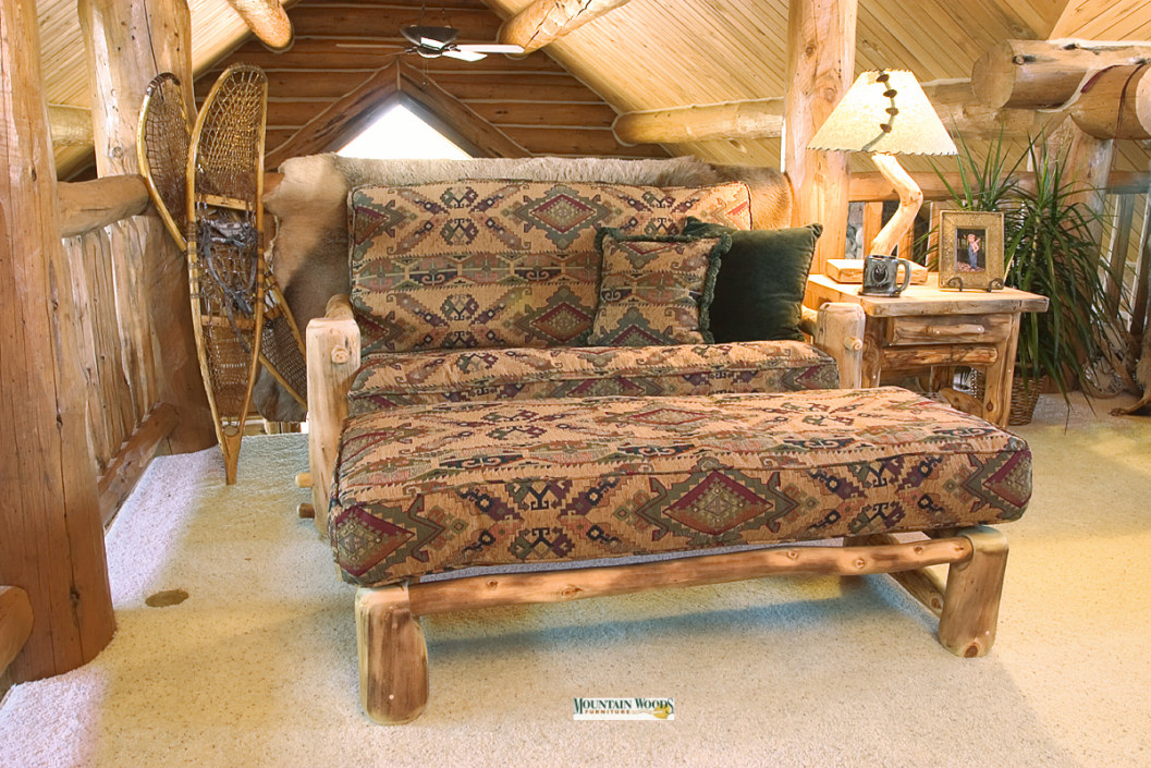 Handcrafted rustic aspen log furniture and pine log - Pictures of log furniture ...