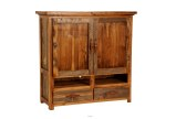 Wyoming Collection Two-Drawer, Two-Shelf Armoire for flat-screen TV